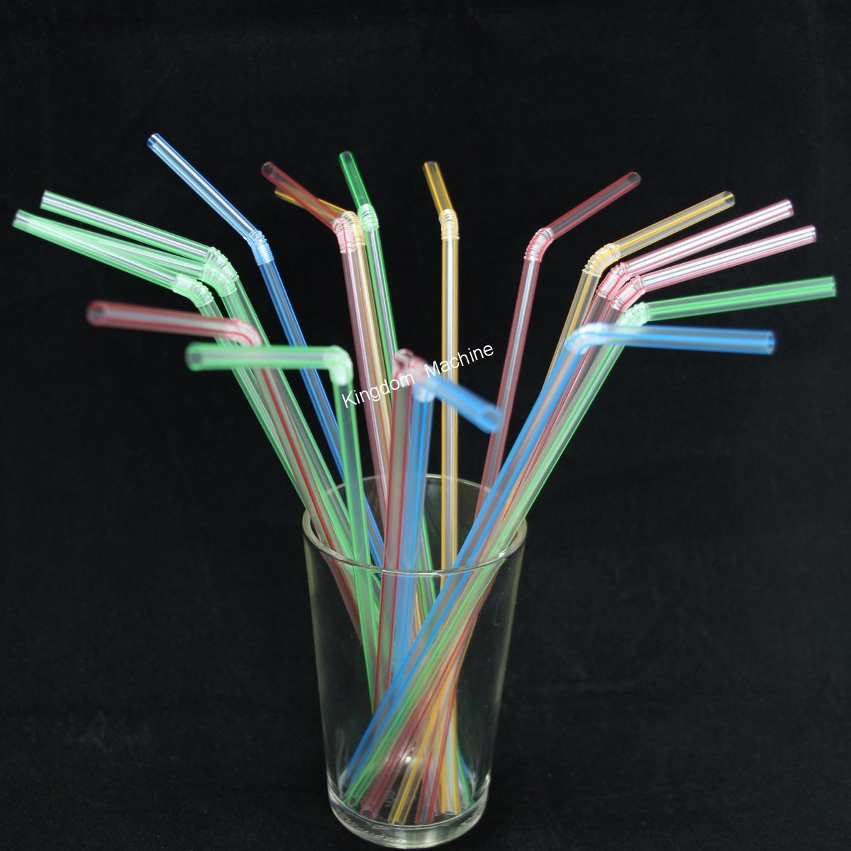 Stripes Clear Flexible Drinking Straw